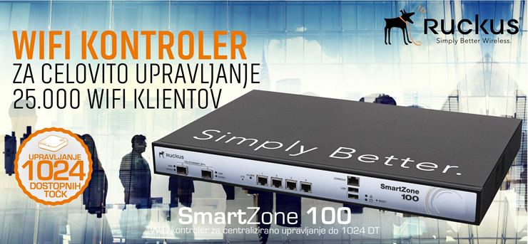 Ruckus Wireless | SmartZone 100 - WLAN kontroler za centralni nadzor in upravljanje do 1024 DT