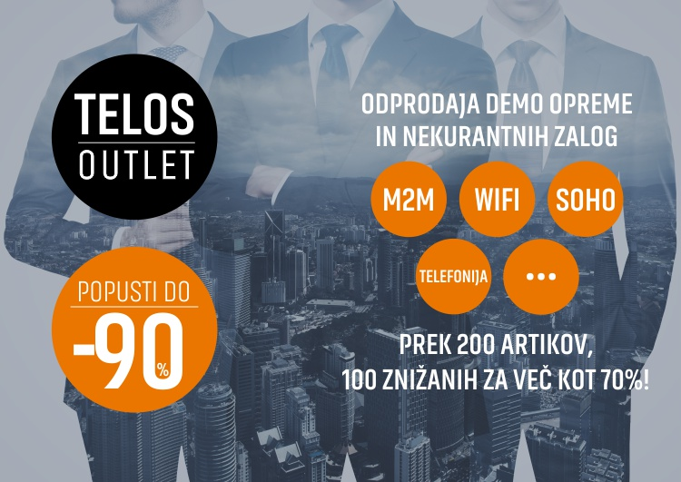Telos.Outlet | Popusti do -80% | Odprodaja demo opreme in nekurantnih zalog