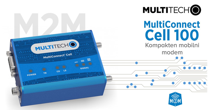 MultiTech | MultiConnect Cell100 - kompaktni 2G/3G mobilni modem