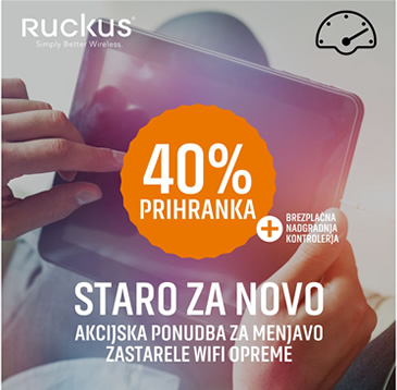 Ruckus Trade-Up promo  -40% prihranka