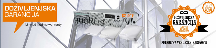 Ruckus Wireless | Doživljenjska garancija za naprave Ruckus Wireless