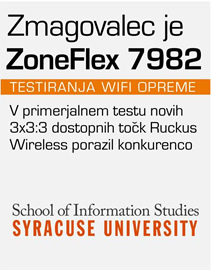 Test 3x3:3 dostopnih točk Syracuse University